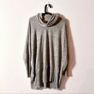 Anthropologie | Oversize Grey Cowl Neck Sweater